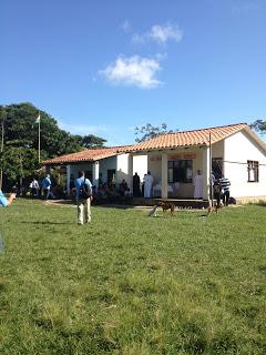 outdoor liturgy at first village